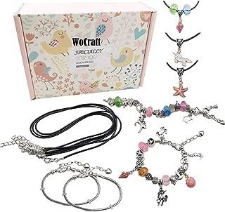 Youdiyla DIY Charm Bracelet Making Kit, Jewelry Making Supplies Bead Snake Chain Jewelry Gift Set for Girls Teens HM312