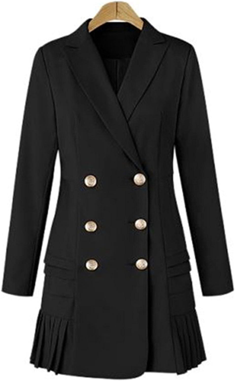 Robin Santiago Women Ol Double Breasted Suit Blazer Autumn Blazer Coat Jacket Casual Outwear Plus Size