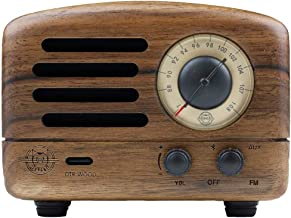 Retro Bluetooth Speaker, MUZEN OTR Wood Vintage FM/AUX Radio with Old Fashioned Classic Style, Portable Wireless Loud Volu...