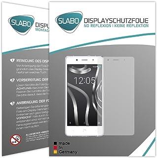Slabo 2 x displayfolie för BQ Aquaris X5 Plus skärmskyddsfolie tillbehör No Reflexion MATT – Made IN Germany