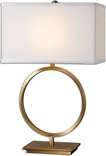 lowest Uttermost 26559-1 Duara outlet online sale online Circle Table Lamp, White outlet online sale