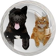 Lade handgrepen trekken ronde kristallen glazen kast knoppen keuken kast handvat,honden katten
