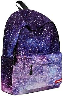 Asdomo Sac à dos unisexe pour enfants et adolescents, idéal pour l'école, les pique-niques, voyages, Noël - motif galaxie, Starry Sky, no pen bag