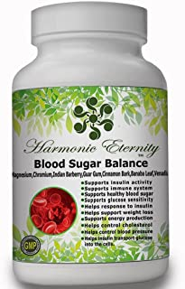 Blood Sugar Balance, The Most Complete Blood Sugar Supplement with Advanced Factors Like Vitamins d3, b6,b12,biotin,zinc,M...