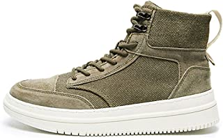 CHENTAOCS Autumn British Style Retro Canvas Shoes, Martin Boots, High Shoes