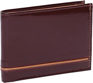 Laveri Waterproof Wallet for Men - Leather, Brown and Tan