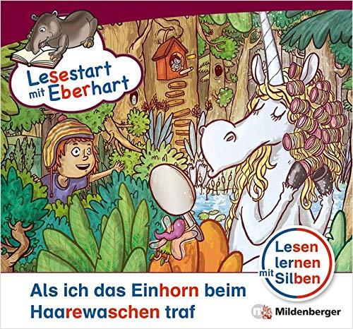 Lesestart mit Eberhart: Als ich das Einhorn beim Haarewaschen traf: Themenhefte für Erstleser, Lesestufe 5 (Lesestart mit Eberhart / Lesen lernen mit ... für Erstleser - 5 Lesestufen - je 10 Hefte)