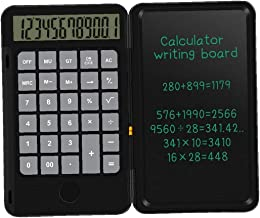 $21 » Calculator Writing Tablet Foldable Handwriting Board LCD Calculator for Children Adults Home Office School Use Black