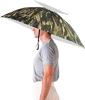 35'' Diameter Hands Free Umbrella Hat, Fishing Head Umbrella Gardening Gifts for Men Women Kids