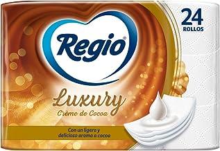Regio Regio Papel Higiénico Creme De Cocoa, 24 Rollos, Logero Aroma A Cocoa, Hojas Triples, color, 24 count, pack of/paque...