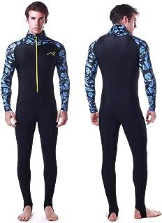 Rash Guard UPF 50+ UV Sunprotection for Men Women Lycra Full Body Diving Suit Full Wetsuit & Breathable Sports Dive Skins for Running Snorkeling Swimming Kayaking