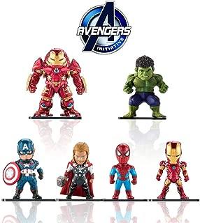 Yingred Marvel Titan Hero Series Exclusive-Iron Man、Hulk、Thor、Spider-Man、Captain America、Hulkbuster 6 Figure Set/Car Decoration