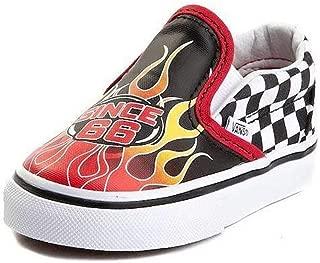 Vans Classic Slip-ON (Race Flame) Black/Racing RED/True White