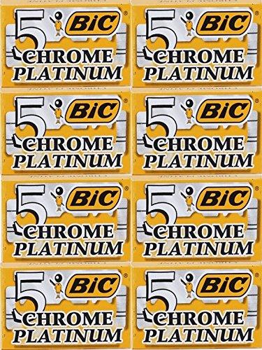 40 Lames BIC – CHROME PLATINUM