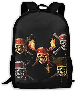 Pirates Of The Caribbean Backpack Casual School Bag Outdoor Casual Anti Theft Lightweight, School Fashion Daypack Fits 15 Inch Laptop