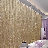 Cortinas de hilo, de poliéster, duraderas, para patio, dormitorio, hoteles y baño, 3 colores a elegir (200 x 100 cm, color dorado)
