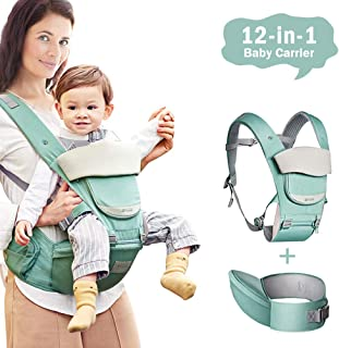 Atmungsaktiver,Vollst/ändiger Schutz Weicher Bamny Ergonomische Babytrage Bauchtrage Kindertrage f/ür alle Jahreszeiten,6 in 1 Verstellba,Leichtes Tragen 0-36Monate,3.5-15kg