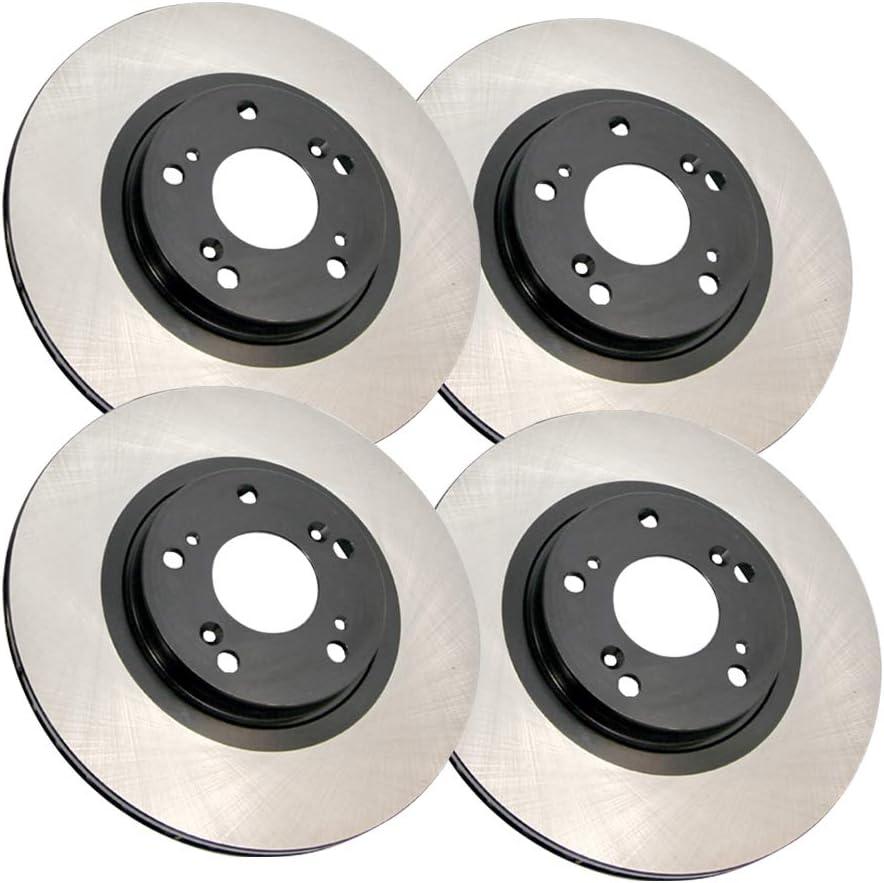 AutoDN Dedication Front and Rear Super sale Premium Brake 4 Rotors of W Set Compatible