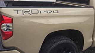 BDTrims Letters Inserts fits TRD Pro Truck Bed 2014-2020 Tundra Models - Both Sides (Matte Black)