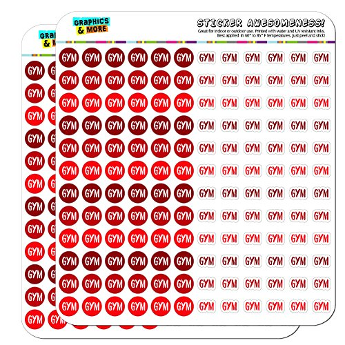 Gym Dots Planner Calendar Scrapbooking Crafting Stickers - Red - Opaque