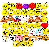 JZK 45 pièces Mini Peluche Emoji Porte-clés, 5cm Nouveauté Emoji pour Les Enfants et Les Adultes des faveurs de fête...