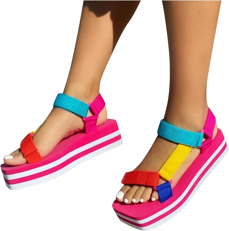 UQGHQO Women Max 60% OFF Many popular brands Sandals 2021 Fashion Strap Flat Buckle Transparent