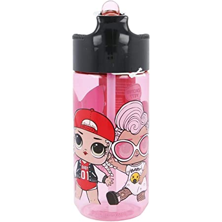500 ML BPA und Phthalat Frei SCOOLI LOLO9913 Aero Trinkflasche aus Kunststoff mit integriertem Strohhalm und Trinkstutzen ca LOL Surprise