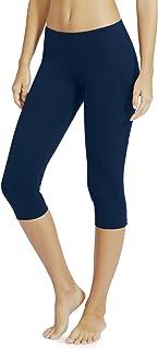 Baleaf Women's Yoga Workout Capris Leggings Side Pocket for 5.5 Mobile Phone