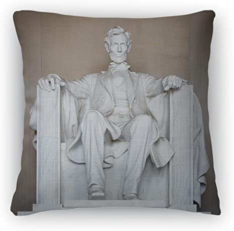 Gear New Throw Pillow 18x18 Statue Of Abraham Lincoln Lincoln Memorial Washington Dc Home Kitchen
