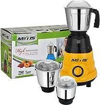 Metis 750-Watt MESW-179 Mixer Grinder with 3 Jars,(Orange)