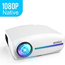 WiMius S1 Native 1080P LED Video Projector (1920x1080), 5500 Lumens Full HD, 4K Zoom ±50°Remote Keystone Correction, Outdoor Home Theater Hdmi Movie Projector for iPhone, Android, PC,TV Stick Box,PS4