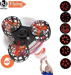 UK BONITOYS Light Up Flying Fidget Spinner,Upgraded LED Light Handheld Flying Spinner,Interactive Hand Spinner Toy with Smiley face,Snowflake, Pumpkin, Skull, Gift Box for Kids,Adult