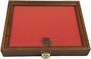 Southern Star Walnut, Oak, or Cherry Wood Display Case 9 x 12 x 2 for Arrowheads Knifes Collectibles & More (Cherry Wood)