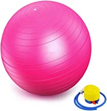 YKXIAOYU Pink Pilates Ball/Yoga Ball/Mini Exercise Ball, Small Bender Ball for Pilates, Yoga, Core Training and Physical T...