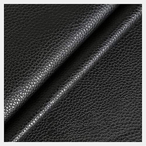 LYRWISHMJ 1 Metro de Polipiel para tapizar, Manualidades, Cojines o forrar Objetos. Venta de Polipiel por Metros. Diseño Solar Color Negro Ancho 138cm (Color : Black, Size : 1.38x3m)