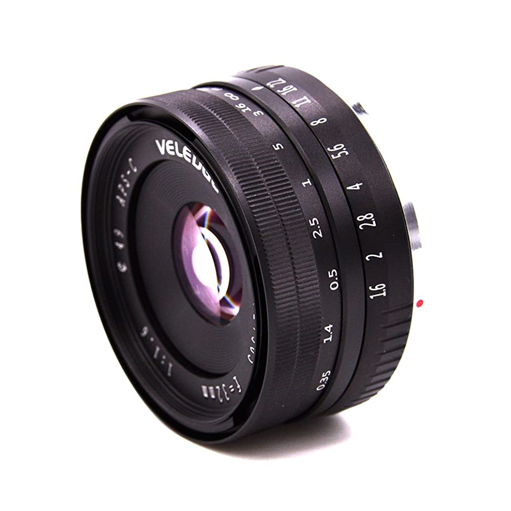 VELEDGE 32mm F1.6 Large Aperture Manual Prime Fixed Lens for Sony APS-C E-Mount Digital Mirrorless Cameras A6000 6300 NEX