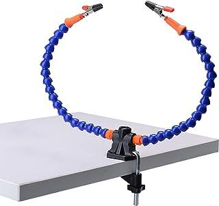 【ヘビの骨】はんだ付け、 サードハンド 溶接修理フレーム はんだ付け道具 はんだごてアクセサリツールキット はんだ付けクリップ はんだ アクセサリ はんだツール ハンダ 付け スタンド(2本のフレキシブルアーム、5cmピンチクリップ)