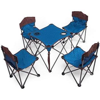 Z-GJM Mesa de comedor al aire libre Mesa y silla plegables para acampar Mesas y