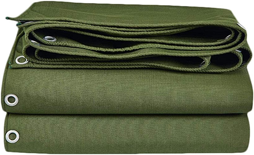 HU Bache Robuste Polyvalente imperméable, Facile à Manipuler pour la pêche au Camping, serres de randonnée, 700g   m2 (Taille   4x4m)