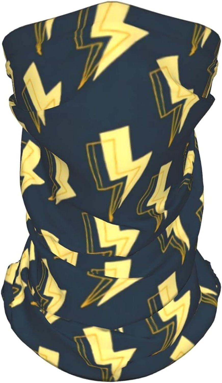 Lightning Hand Drawn Pattern Neck Gaiter Multipurpose Headwear Ice Silk Mask Scarf Summer Cool Breathable Outdoor Sport 2 Pcs