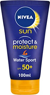 NIVEA, Sun Lotion, Protect & Moisture Water Sport, SPF 50+, 100ml