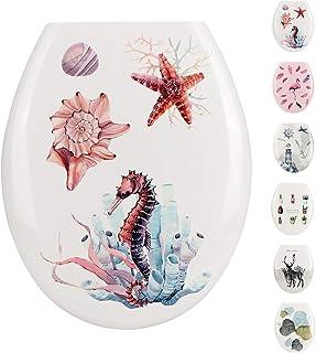 JOTOM Asiento de Inodoro de Alta Calidad, Hermoso Diseño Impreso Para Inodoro Para Baño (Vida marina)