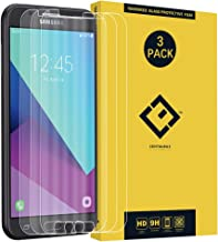 Compatible with Screen Protector Samsung J7 2017,(3 Pack) Ultra-Thin Clear 9H Tempered Glass Protective Film Replacement for Galaxy J7 Sky Pro/J7 Perx/SM-J727/Halo/J7 Prime J727T J727U / J727T1/J727A