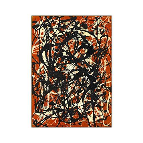 WJWGP Abstracto Lienzo óLeo Pintura Jackson Pollock Gratis Forma Obras De Arte PóSter Imprimir Abstracto Colorido Pared Cuadro Moderno Inicio Decoracion 50x70cm No Marco