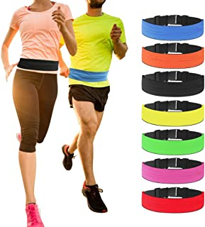 Sports Waist Bag Pack for Man Women Running Belt Fanny Pack Money Waistband Workout for iPhone X 8 7 6 Samsung Unisex Adjustable Pouch for Hiking Cycling Climbing Fitness Travel Jogging Outdoors