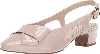 Easy Street Women's Breanna Slingback Dress Pump Shoe, Blush Patent, 6.5 M US
