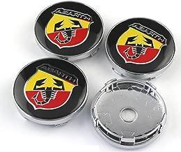 GZ RuiLiPu 4pcs 60mm Abarth logo car emblem Wheel Center Hub Cap Rim badge covers styling 2.20