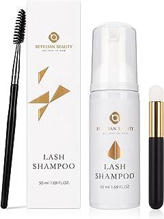 BEYELIAN Lash Shampoo with Brush Eyelash Extension Cleanser & Salon Use