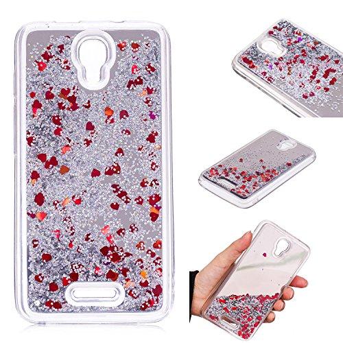 COZY HUT Alcatel Pixi 4 5.0 OT5010D Hülle 3D Treibsand Creative Spiegel Hülle Case Transparente Kristallklaren Sparkly Silikon TPU Weich Back Coverfür Alcatel Pixi 4 5.0 OT5010D - Silberner Treibsand