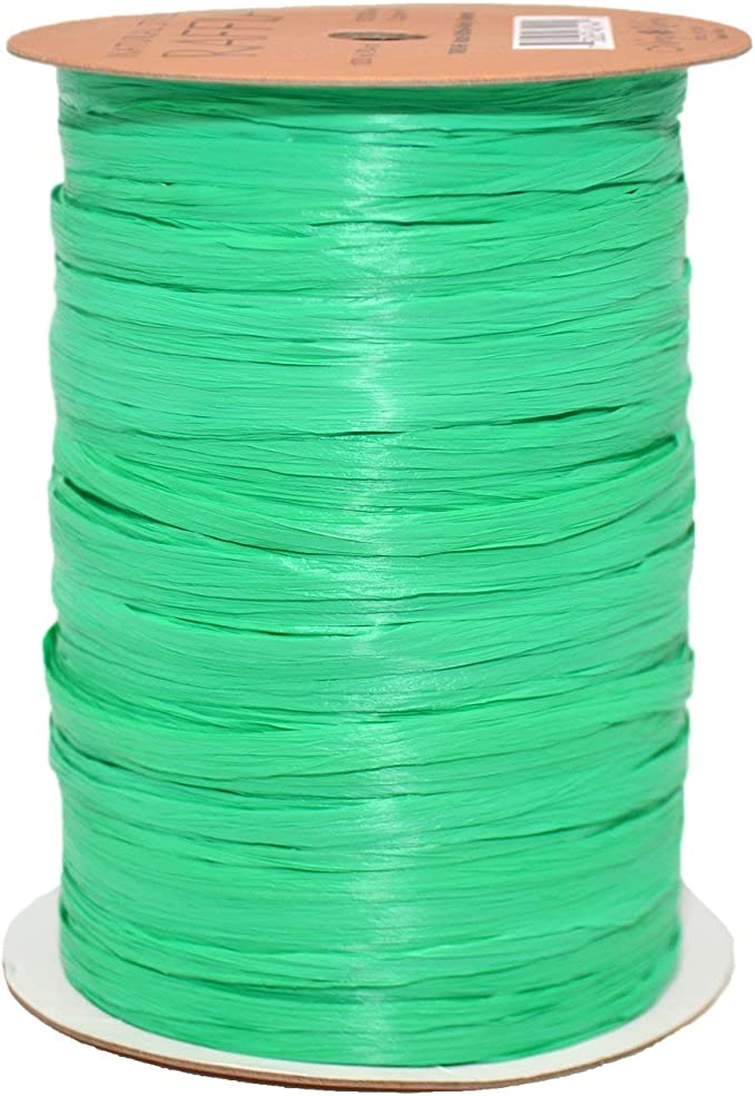 1//4 x 100 Yd Terra Cotta Morex Ribbon 100/% Rayon Matte Raffia Biodegradable Ribbon